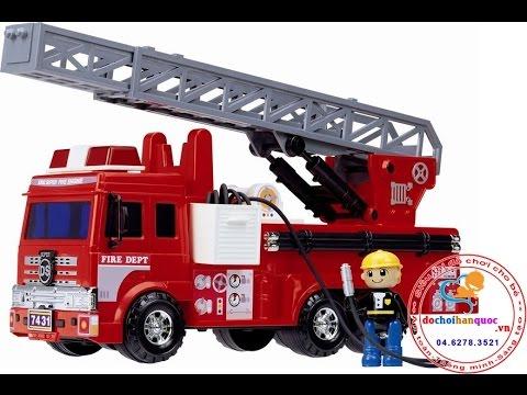 [Dochoihanquoc.vn] Xe cứu hỏa lớn Deasung Toys Hàn Quóc