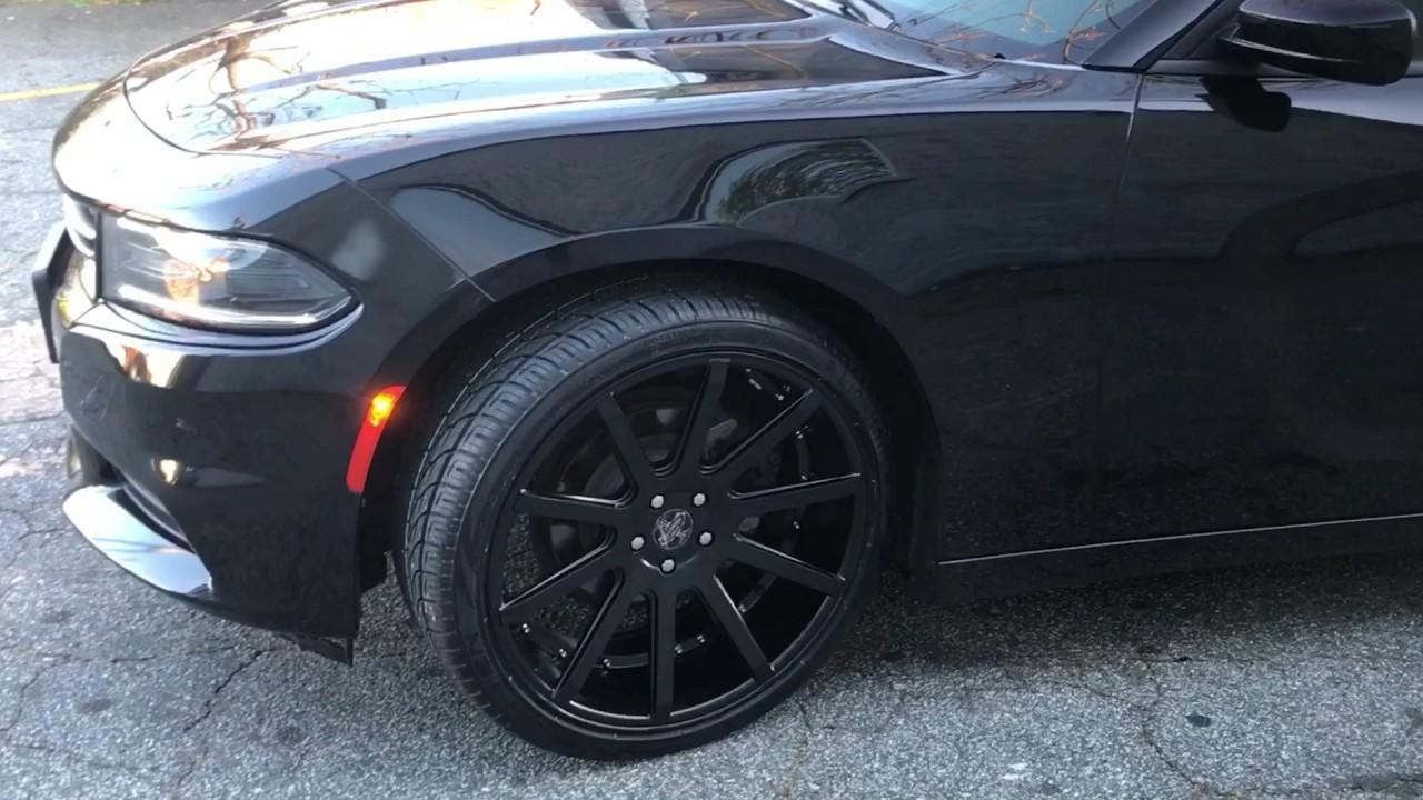 "2016 Dodge Charger sitting on 22"" Versante 232 Matte Black ..."