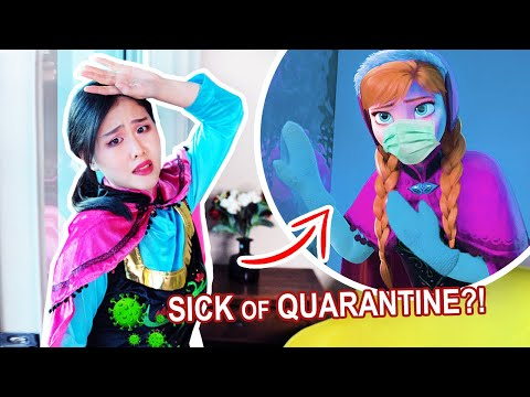 "Anna HAS HAD ENOUGH Of QUARANTINE!? -【Disney Frozen ""First Time In Forever"" Parody】