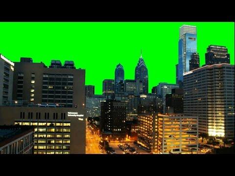 Real City (Philadelphia) Time Lapse 1080p - Green Screen