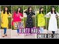 AJIO Kurti Haul under Rs.500| College/Office wear Kurtis