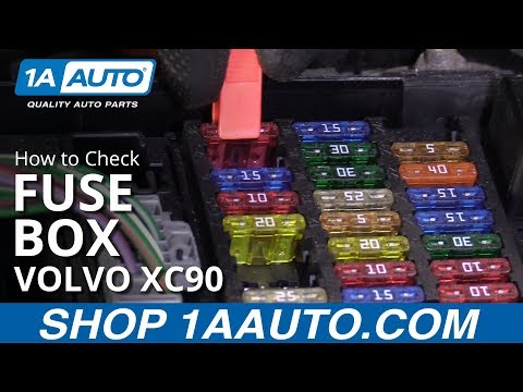 how to check fuse box 03-12 volvo xc90 - youtube  youtube