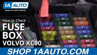 How to Check Fuse Box 03-12 Volvo XC90 - YouTube | Volvo Xc90 Fuse Box 2004 |  | YouTube