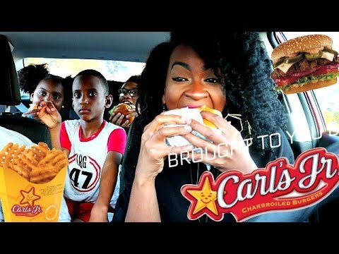 BACK AT CARLS JR! CAR MUKBANG!