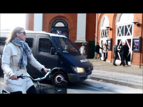 Undercover Danish police arrest anti-racist activists in Copenhagen.