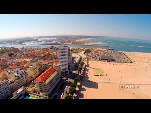 Figueira da Foz and Buarcos aerial view