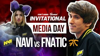 Media day. NAVI vs FNATIC
