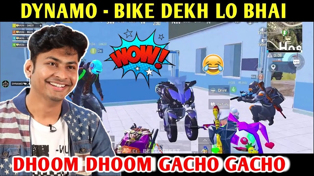 DYNAMO - BIKE DEKH LO BHAI RIDING YAMAHA MWT-9 | PUBG MOBILE | BEST OF BEST