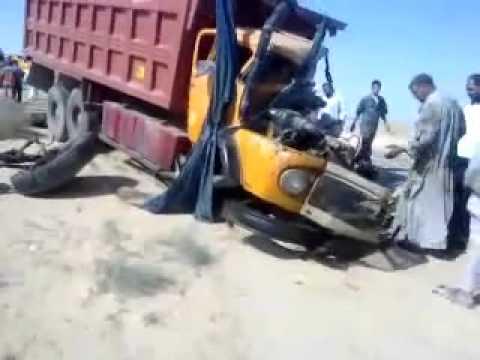 أقوى حادث شاحنات في العراق thumbnail
