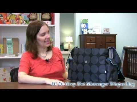 Smartmomma.com Reviews The Oi Oi Grey Dot Messenger Bag