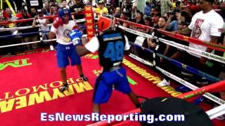 Can You Compare? Floyd Mayweather Sparring vs Conor McGregor Sparring ESNEWS BOXING