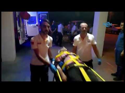 Besni'de Otomobil Şarampole Devrildi 2 Yaralı