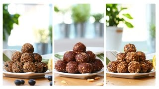 Healthy No-Bake Energy Bites | 3 Delicious Ways