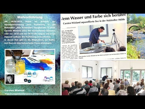 Watercolor Demonstration Malstedt