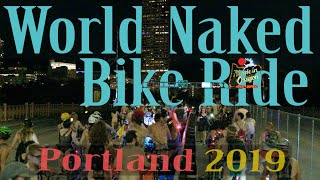 Portland Protest and The World Naked Bike Ride - NUDE RIOT in Laurelhurst Park - in 4k HDR