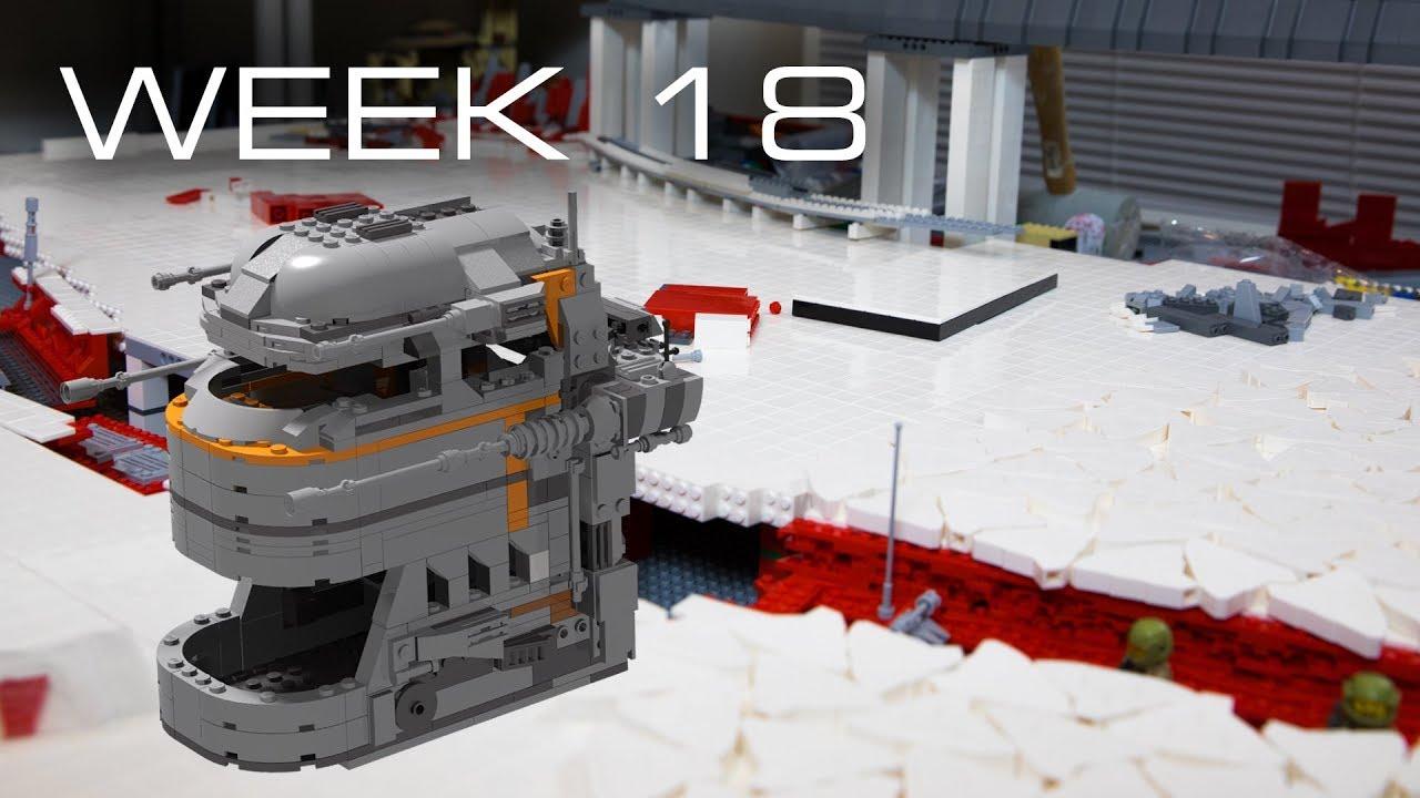 Building Crait in LEGO - Week 18: Turrets
