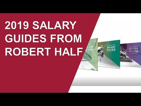 Are You Underpaid? Survey Released With Robert Half 2019 Salary