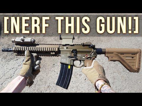 NERF THIS GUN! (HK416 A5 Gas Blowback Airsoft Rifle)