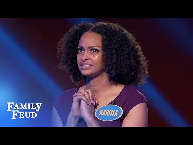 Karissa and Khristina are on the hunt for $20,000 cash! | Family Feud