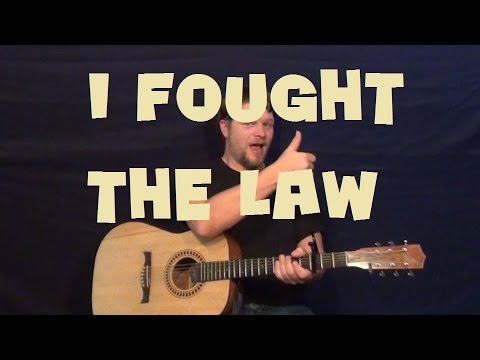 I Fought The Law (Bobby Fuller Four) Easy Guitar Lesson How to Play Tutorial