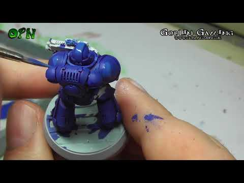 How to paint a ultra marine PAINT BRUSH ONLY!!