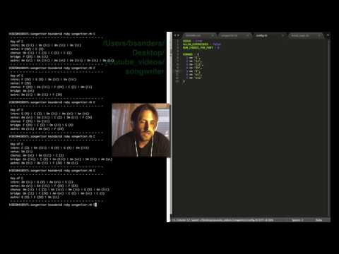 "Part 1: ""Songwriter"" Chord Generator Ruby Program (Music+Coding)"