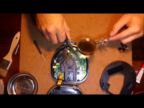 """How to replace a Sony Walkman Discman CD player lens and pick-up assembly """"Sony D-SJ15"""""""
