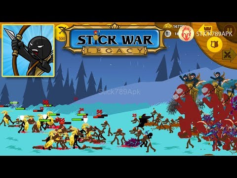 🏰 LEAGUE OF FIVE TRIBES VS DARK LORD OF THE DEAD   Stick War: Legacy Mod Android Best Gameplay #FHD