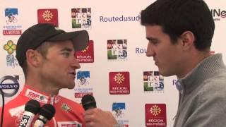 Route du Sud 2013 - Thomas Voeckler après sa victoire à Bagnères de Luchon