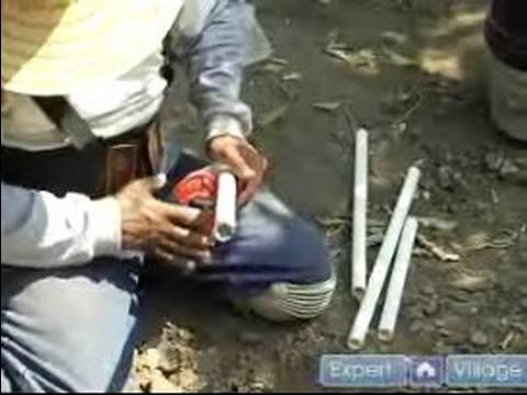 How To Install A Sprinkler System : How To Cut PVC Pipe For Sprinkler System