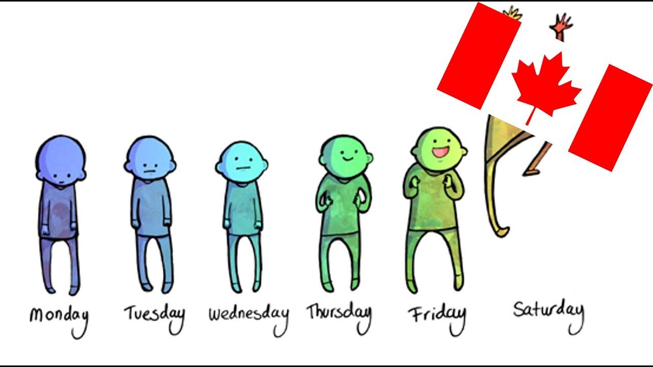 Картинки смешные дни недели картинки