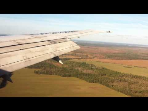 Landing at Minsk International Airport with Boeing 737-500 with Belavia, Belarus