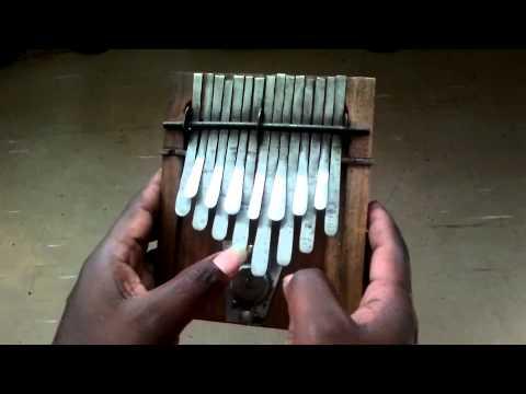 Kalimba Nyunga Nyunga Thumb Piano Tuned Eflat - Medium size - Dingiswayo Juma