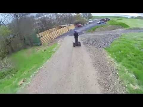 Segwaying in hailstones at Laggan Outdoor.