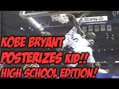 17 Year old KOBE BRYANT POSTERIZES Defender   Rare Kobe Footage