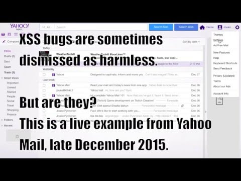 Yahoo Mail stored XSS