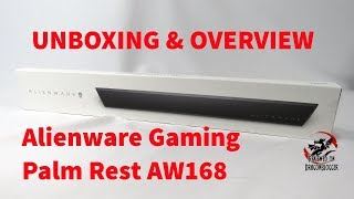 Unboxing and overview of the Alienware Gaming Palm Rest AW168 an accessory to the AW768 Keyboard