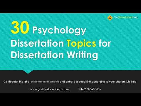 30 Psychology Dissertation Topics For Dissertation Writing