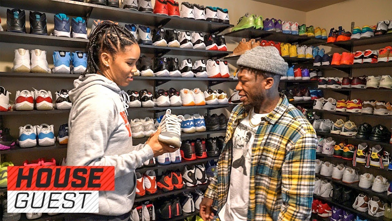Tamera 'Ty' Young's Epic Sneaker Closet Houseguest med Nate RobinsonThe Players 'Tribune Houseguest med Nate Robinson The Players' Tribune