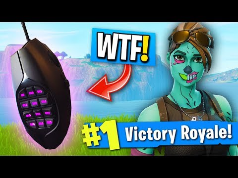 USING MOUSE WITH 20 BUTTONS TO PLAY FORTNITE! (Best Mouse For Fortnite Battle Royale)