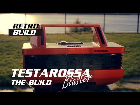 Ferrari Testarossa boombox build DIY Bluetooth  car stereo garage speaker