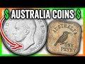 5 AUSTRALIA COINS WORTH BIG MONEY - RARE WORLD COINS!!