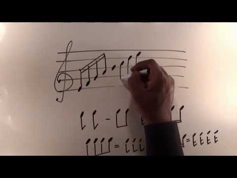 Part 3 - Music Theory Lessons Online - Writing and beaming notes on the staff