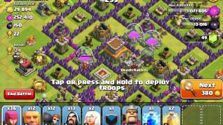 Clash of Clans WAG attacking in Crystal 3