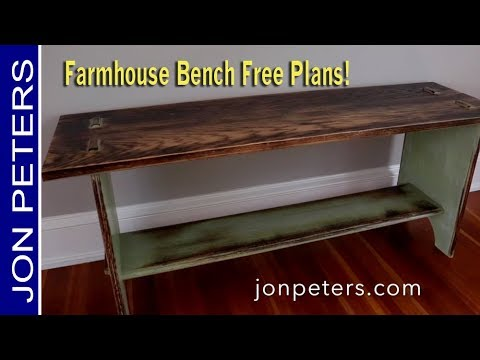 HowTo Make a Rustic Farmhouse Bench