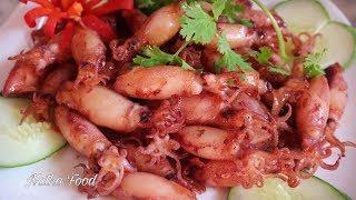 Mực chiên nước mắm, bao ngon bao hao bia nha || Natha Food