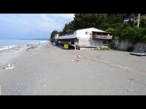 Пансионат «Солнечный» Холодная речка Гагра Абхазия. Выход на пляж. ДО Солнечный