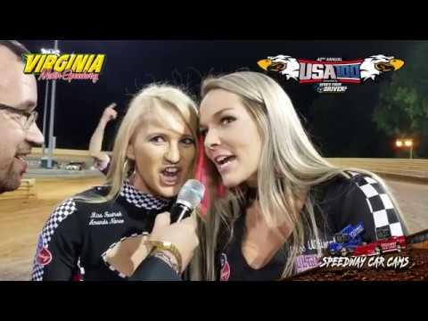USA100 #09 Johnny Pursley - Super Late Model - 6-16-18 Virginia Motor Speedway - In Car Camera
