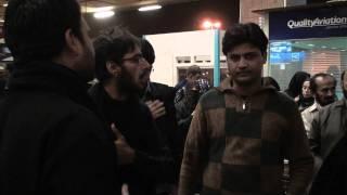 03-Jan-2012 Al Furat Ziarat Group doing matam at Karachi Airport before departure