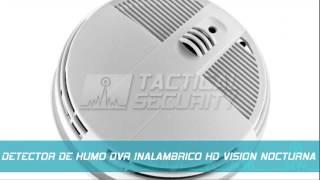 TS9817 Detector de Humo DVR Inalámbrico HD Visión Nocturna